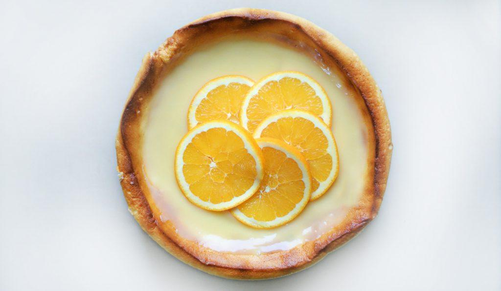 Pomarańczowy sernik świąteczny