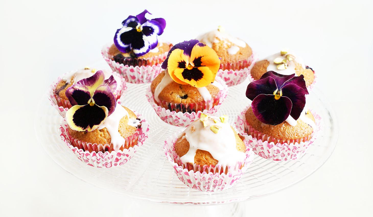 Cytrynowe muffinki z borówkami
