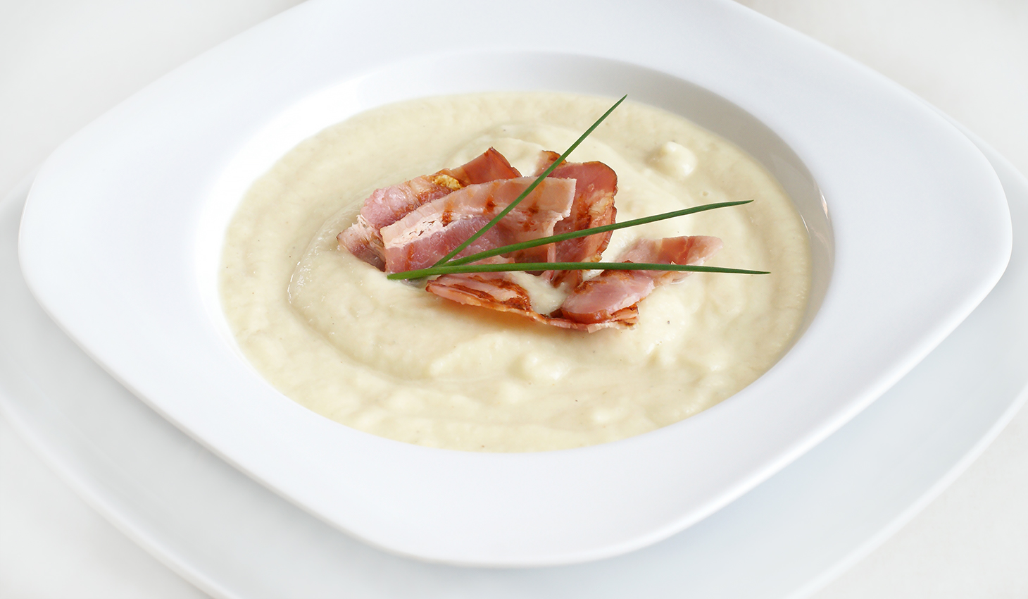 Zupa-krem z bialych warzyw z Gorgonzolą
