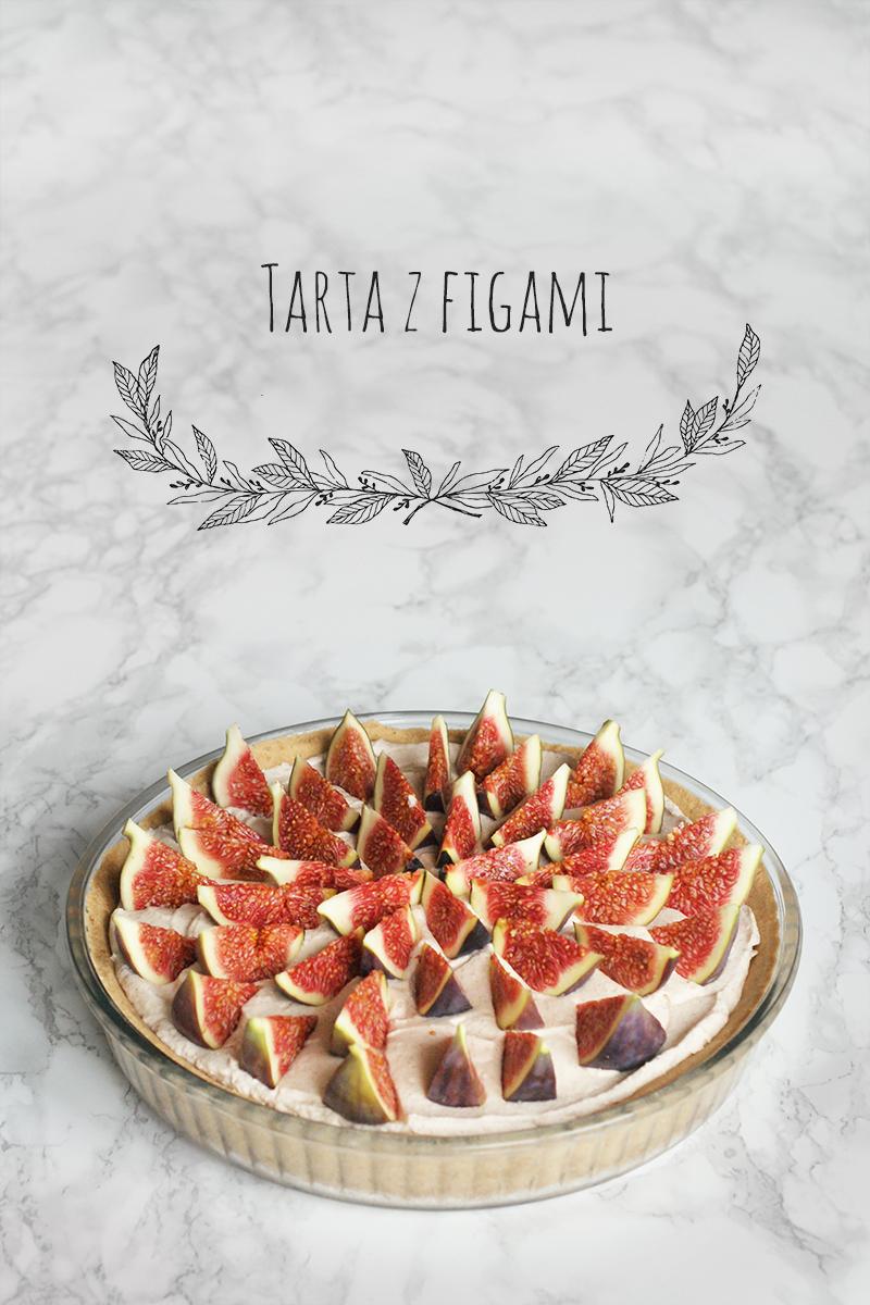 Tarta z cynamonowym kremem i figami (bez pieczenia)