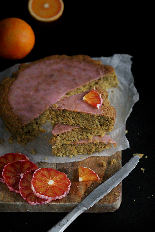 Pomarańczowe ciasto owsiane z FIT lukrem