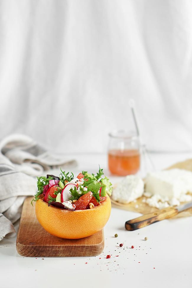 Lekka sałatka z grejpfrutem