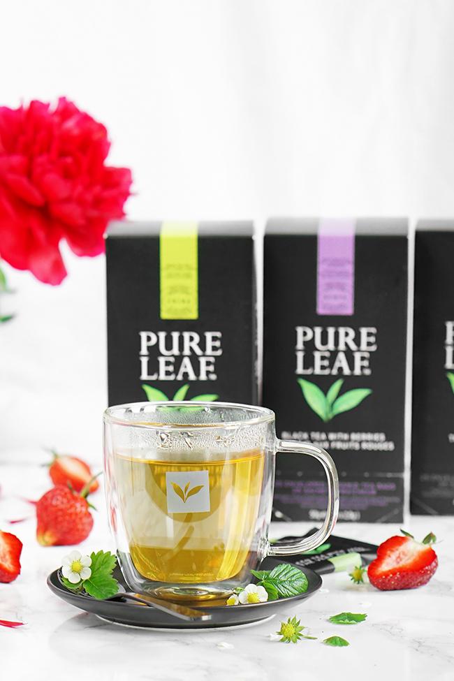 Herbaty Pure Leaf - recenzja. Proste ciasto jogurtowe do herbaty.